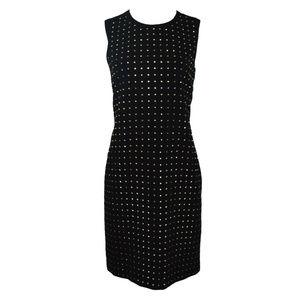Calvin Klein Black Studded Sleeveless Dress New
